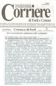 Corriere di Forlì e Cesena sciopero del 12 marzo 2010