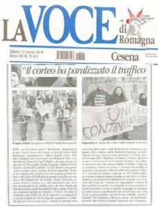 La Voce sciopero del 12 marzo 2010